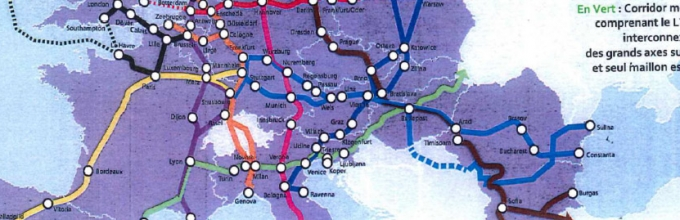 carte du projet Lyon Turin